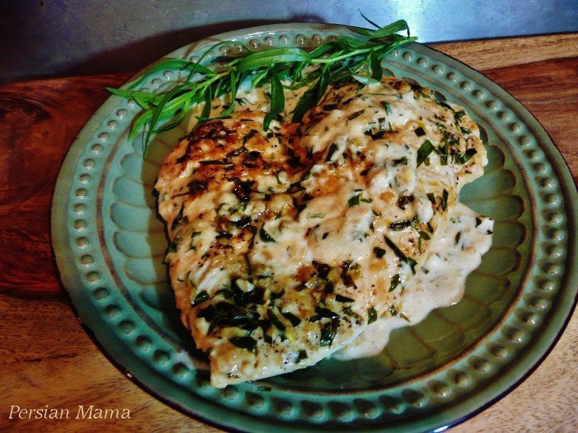 Chicken tarragon in lemon cream sauce
