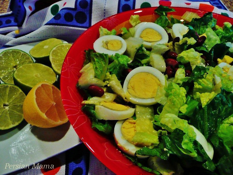 egg and bean salad