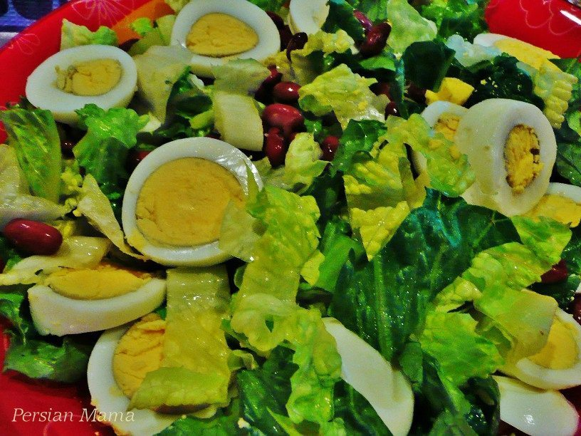 EGGS AND RED BEAN SALAD