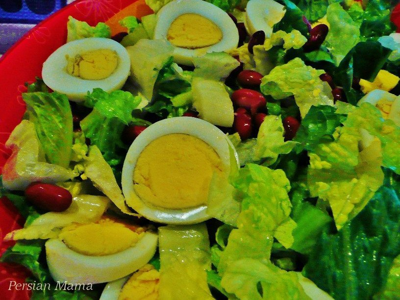 egg and bean salad