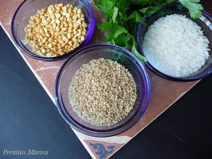 grains and split peas
