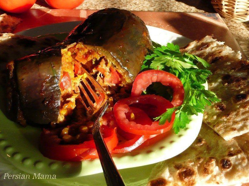 Dolmeh Bademjan | Stuffed eggplant