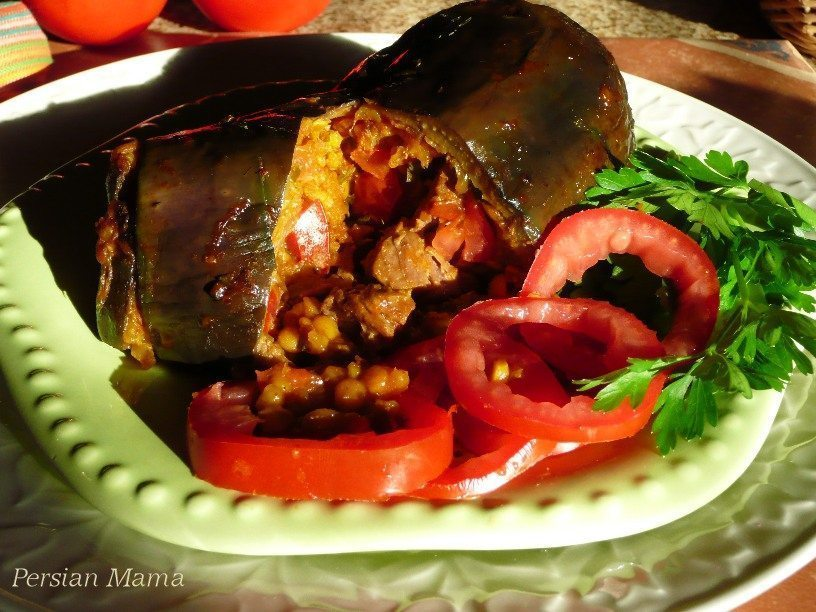 Dolmeh Bademjan | Stuffed eggplants
