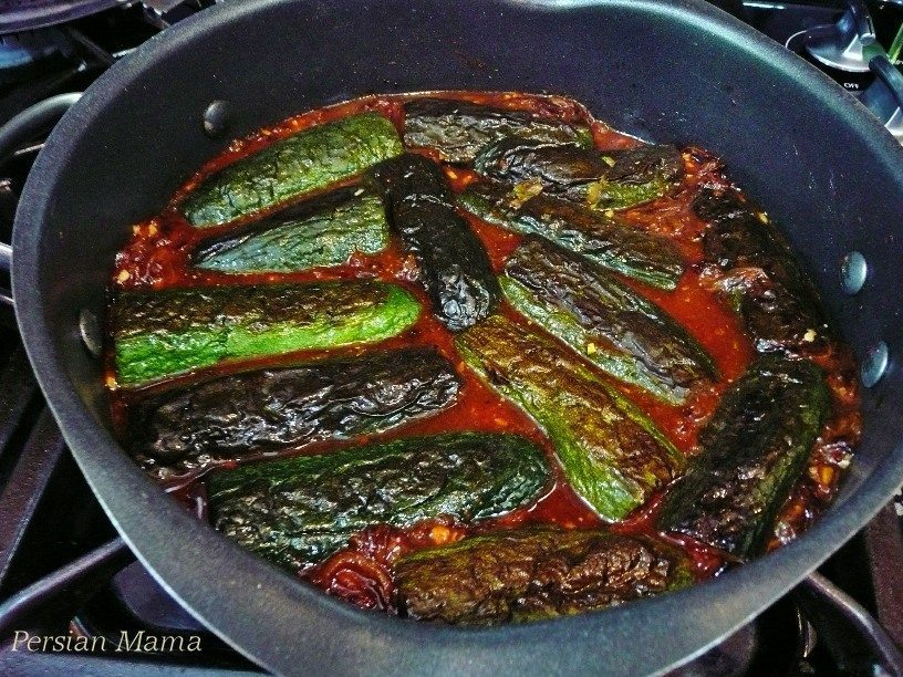 zucchini in the sauce