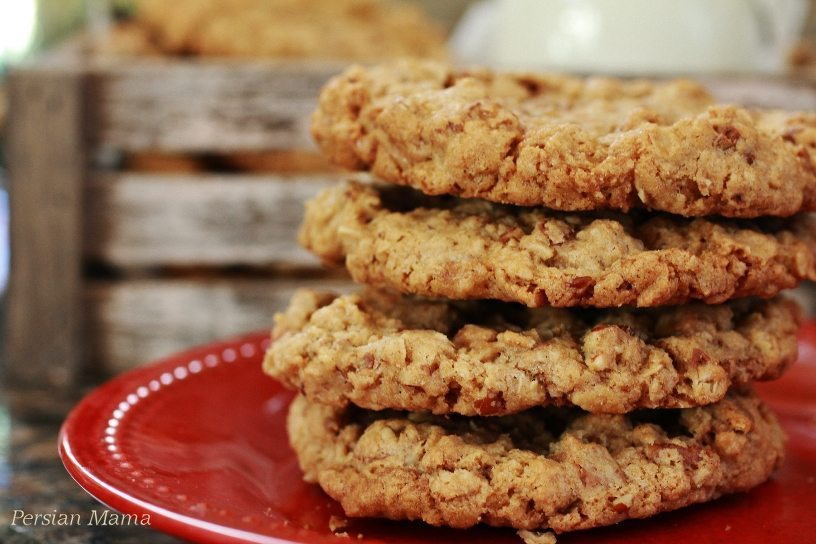 Toffee Crunch oatmeal Cookies