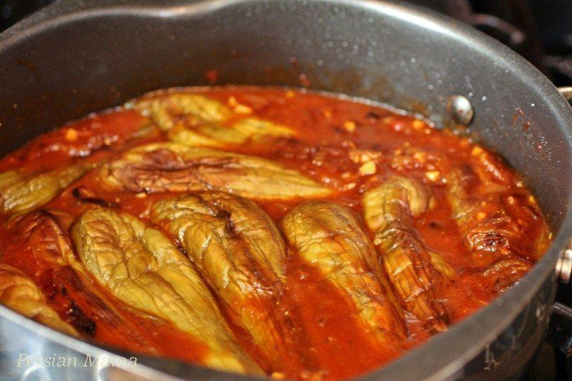 Eggplants in Saffron Tomato sauce