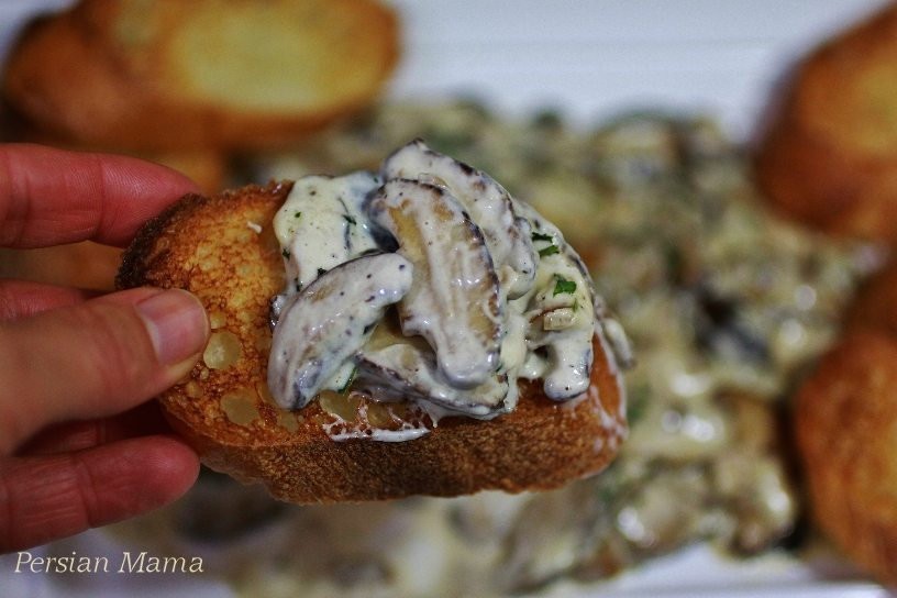 shiitake mushrooms in wine cream sauce