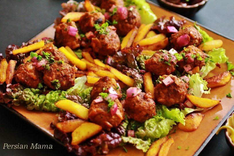 KOOFTEH RIZEH   Persian Meatballs