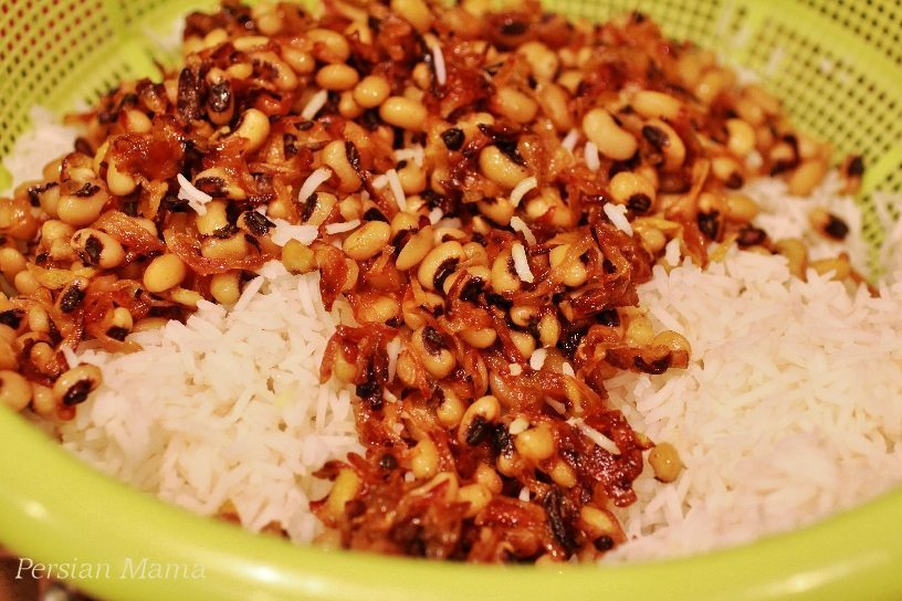 Rice and black-eyed peas