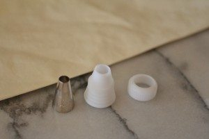 pastry bag and plain nozzle