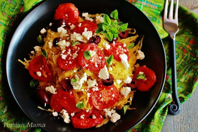 Spaghetti Squash with Caramelized Tomatoes