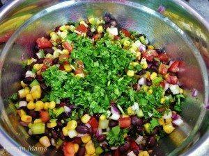 Add chopped chilantro