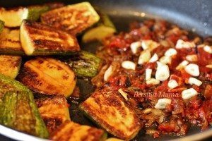 Zucchini garlic tom paste