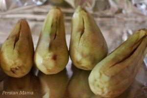 peeled eggplants
