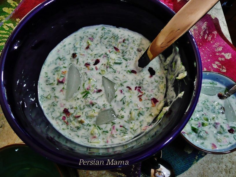 ABDOOGH KHIAR | COLD CUCUMBER AND YOGURT SOUP