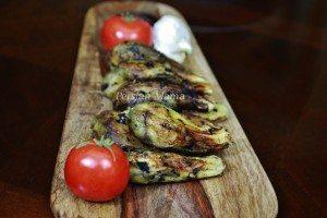 peeled eggplants