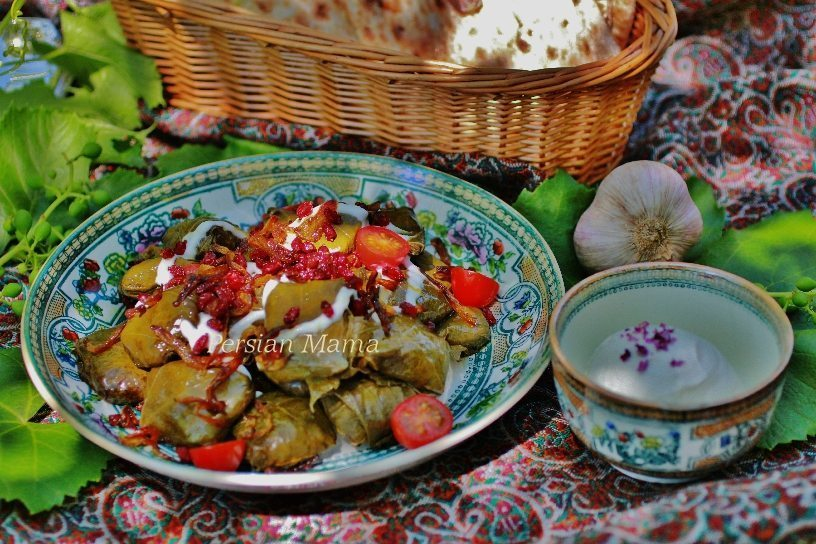 Dolmeh Barg | Stuffed Grape Leaves
