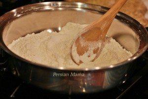 heat the flour