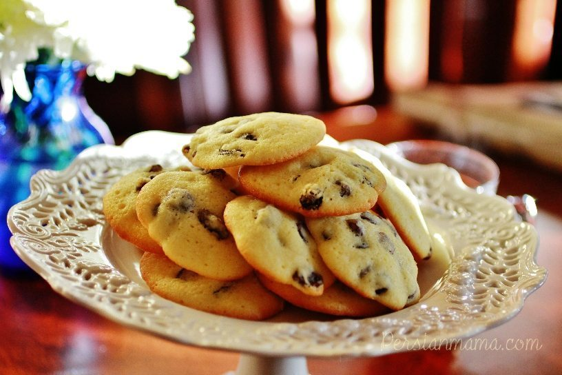 Shirini Keshmeshi - Persian Raisin Cookies 1