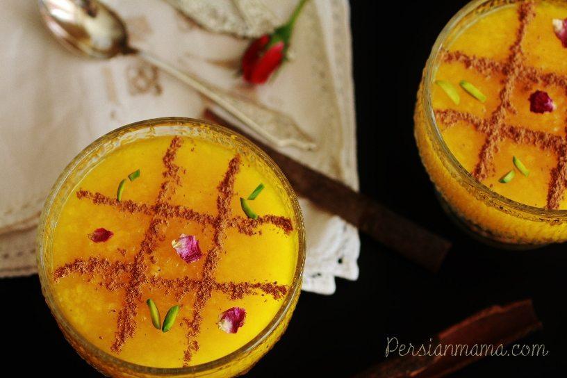 Sholeh Zard|Persian Saffron Rice Pudding