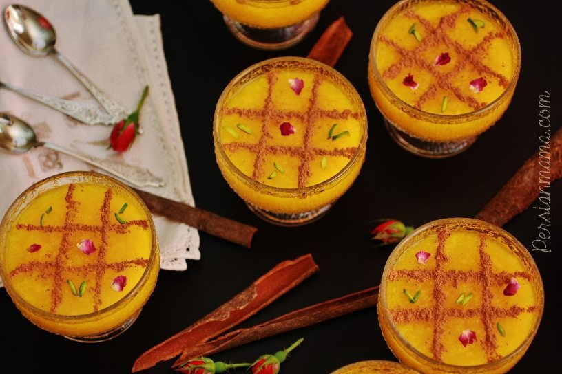 Sholeh Zard|Persian Saffron Rice Pudding