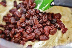 stir in the raisins
