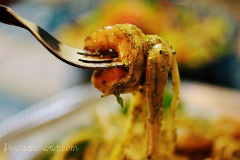 Pesto Shrimp Linquini 1