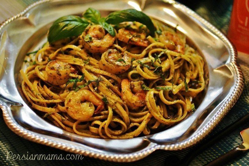 Pesto Shrimp Linquini 3