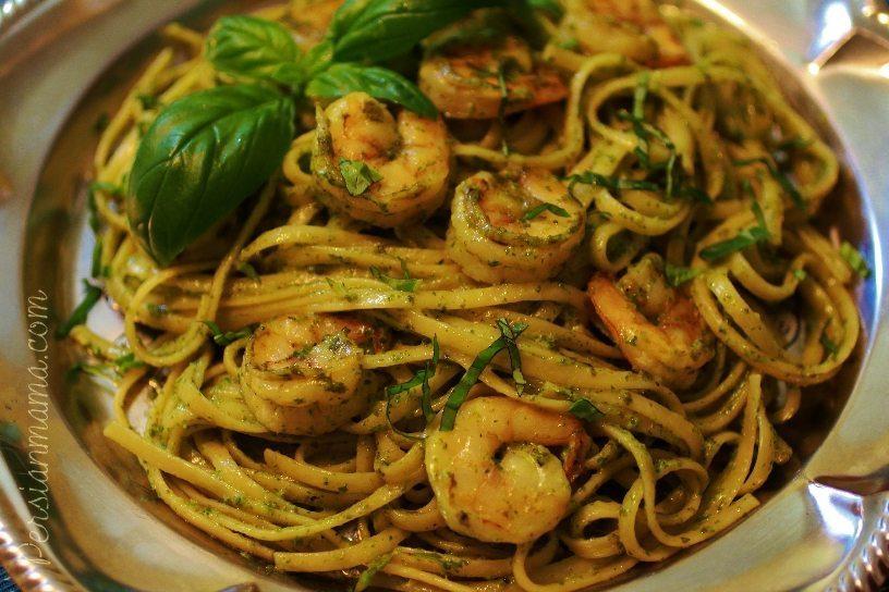 Pesto Shrimp Linquine