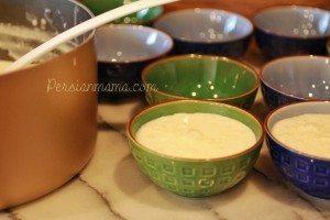 ladle into bowls