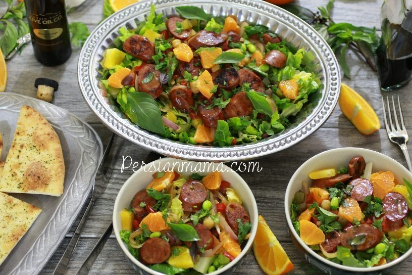 Three Bean Citrus Salad