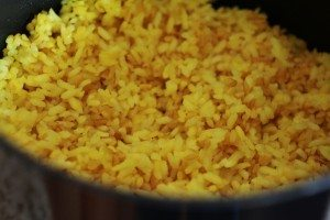 cooked rice and bulgur