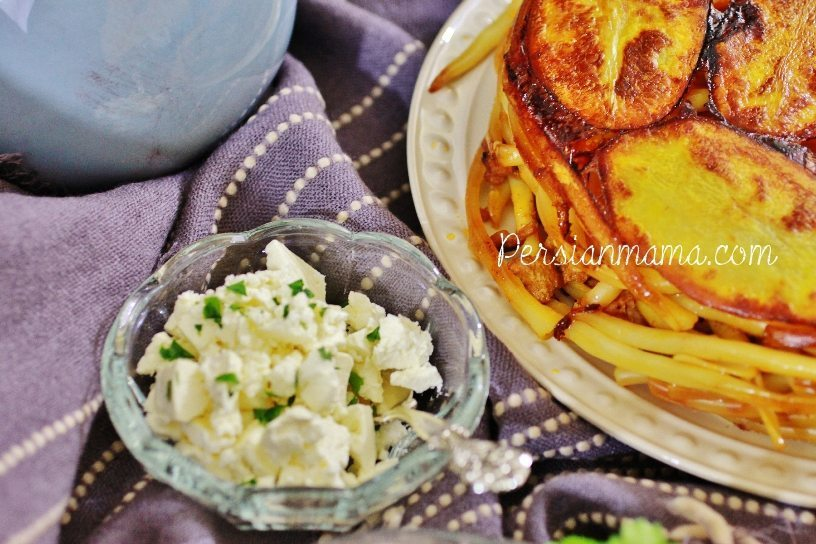 Persian Macaroni with Potato TahDig