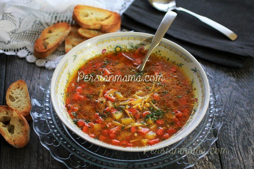 Soup Morgh Zaferani