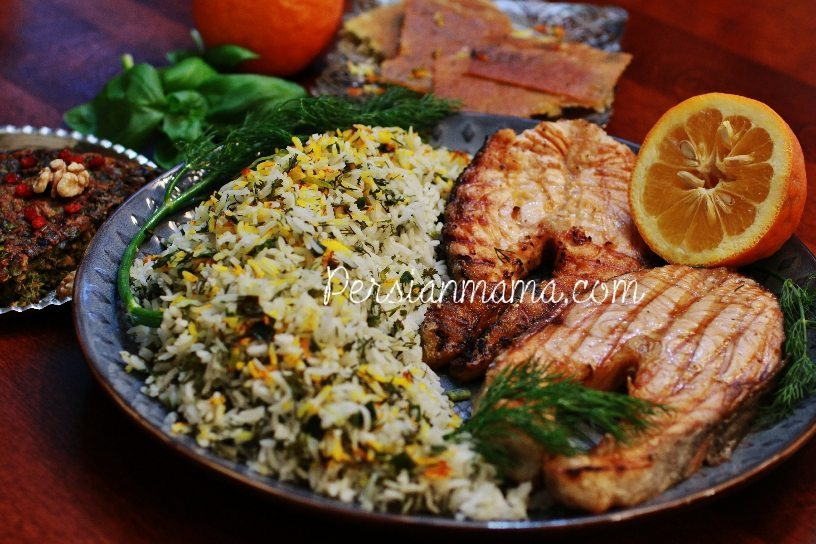 SABZI POLO BA MAHI سبزی پلو با ماهی