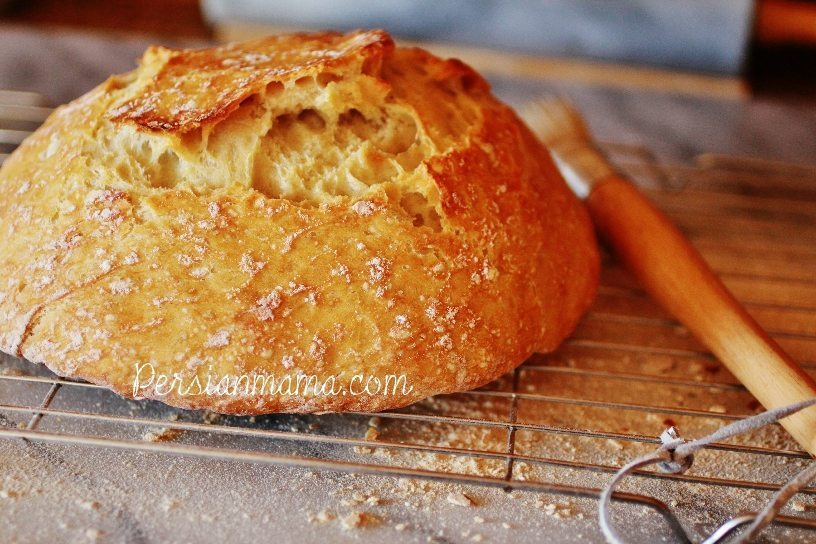Quick Crusty Bread is dusted off with a pastry brush