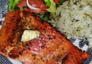 Blackened Salmon & Sticky Herb Rice 4