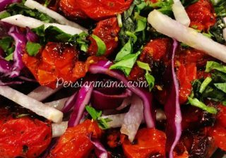 Red Cabbage and Jicama Salad 2