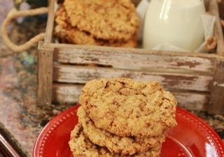Toffee Crunch oatmeal Cookies featured