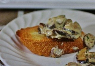 shiitake mushrooms in wine cream sauce 9